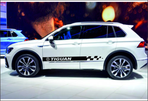 Volkswagen Tiguan 2x Side Stripes Graphics Vinyl Body