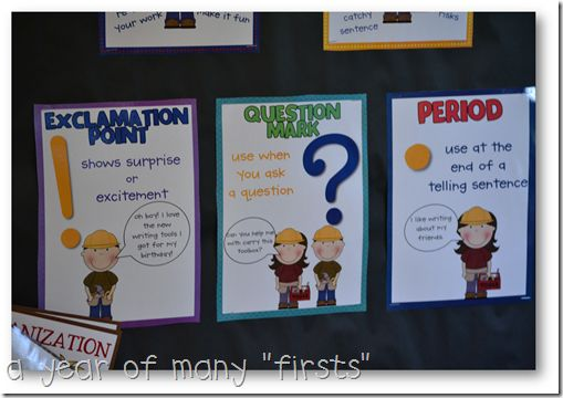Question marks, periods, and exclamation points, oh my! These are the three that we should try to use in our writing! But where do they go? And how do we use them? Take a look at this poster for a few reminders. :)