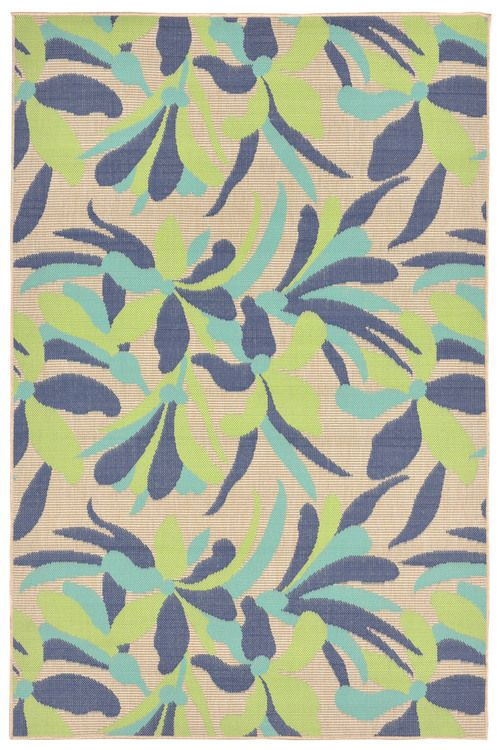 Brighten Up Your E With Our New Playa Fl Tropical Area Rug In Shades Of Blue