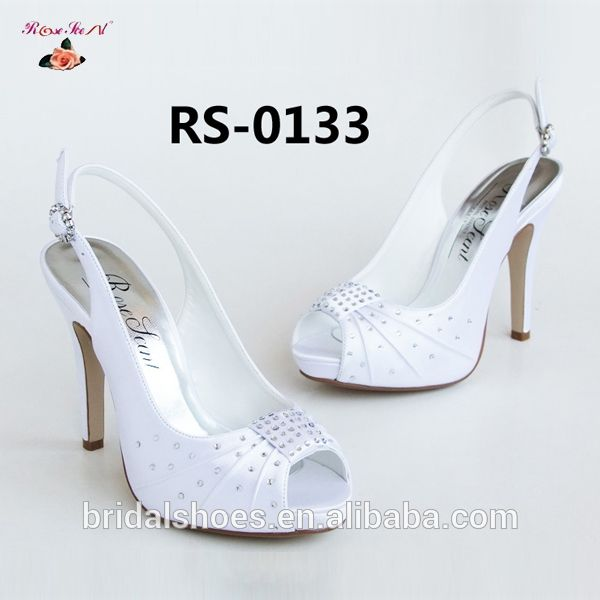 2014 elegant white rhinstone high heel bridal shoes  FOB Price: Get Latest Price Min.Order Quantity: 1 Pair/Pairs Supply Ability: 10000 Pair/Pairs per Month