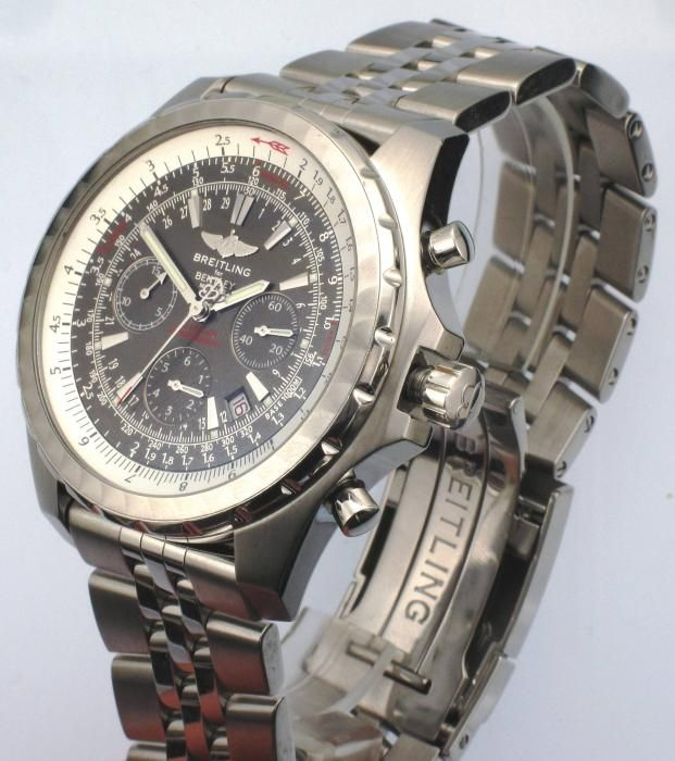 STEEL BREITLING BENTLEY T A2536313 AUTOMATIC CHRONOGRAPH WATCH - Attenborough Pawnbrokers & Jewellers #preowned #breitling #bentleyT #A2536313 #chronograph #prestige #watch #bu #sell #pawn