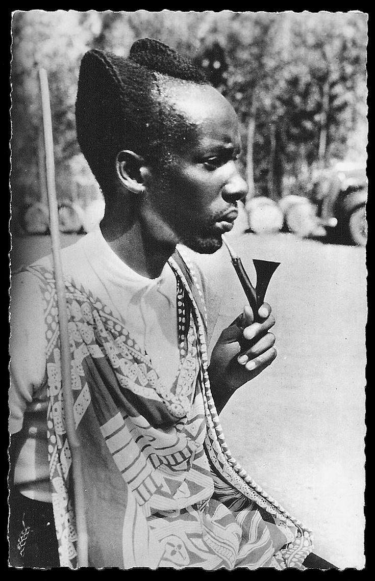 Africa | Mutusi nobleman. Rwanda || Scanned old postcard