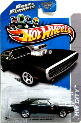 1970 Dodge Charger R/T Hot Wheels 2013 HW City #3/250 FAST & FURIOUS Movie Car