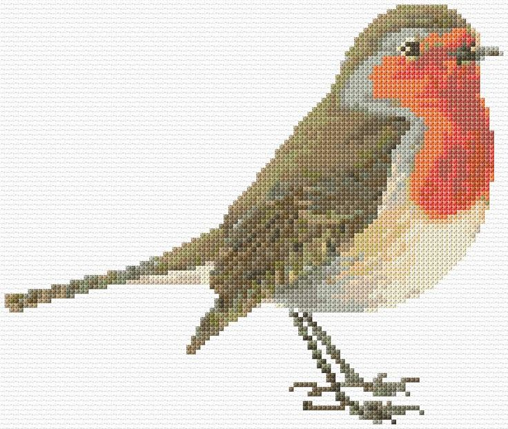 hardware for purses Cross Stitch   Robin Redbreast xstitch Chart   Design