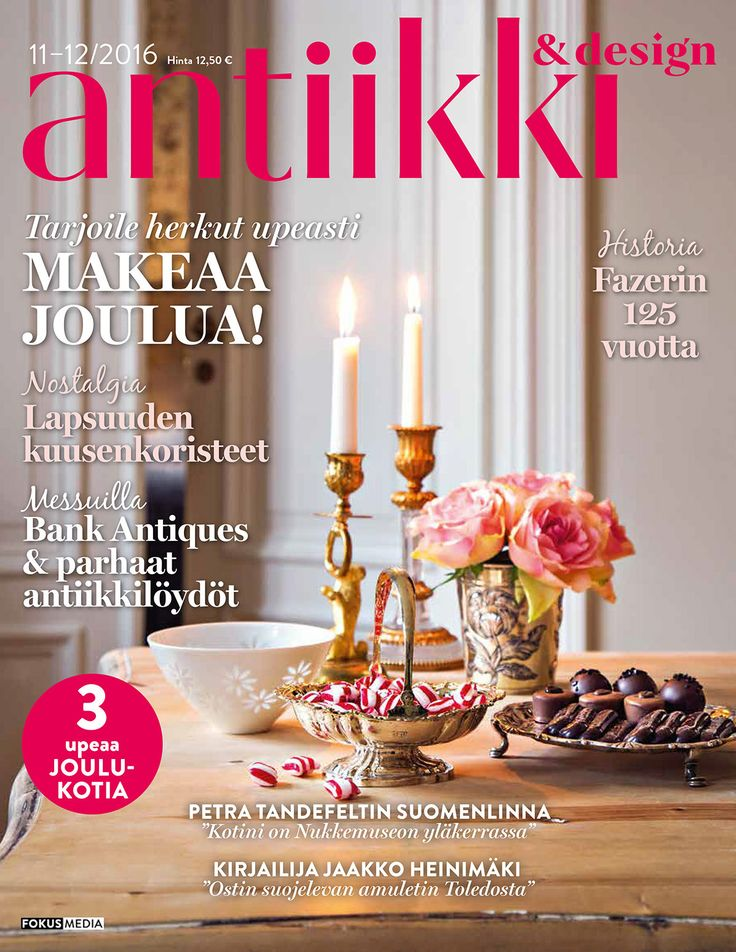Kansikuva 11-12/2016. Photo: Kristiina Hemminki / Fotonokka, style Irene Wichmann.