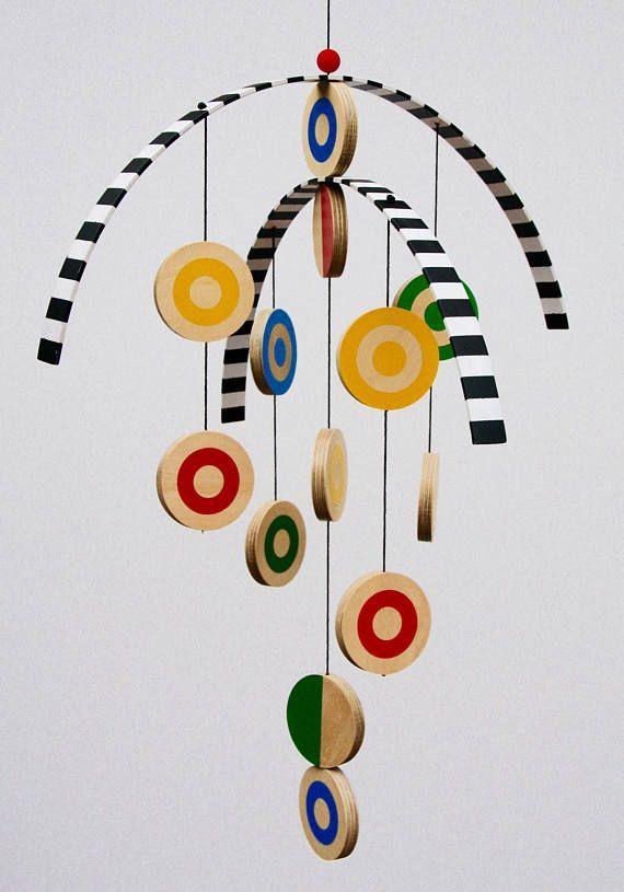 Modern Wooden Hanging Mobile for children baby nursery home