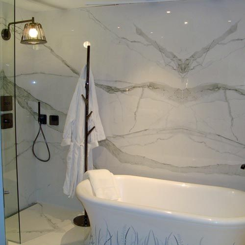 Calacatta Marble Effect Book Matched 120x60cm Thin
