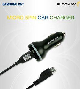 SAMSUNG C&T PLEOMAX Car Charger 5V 1A  USB to micro 5 pin