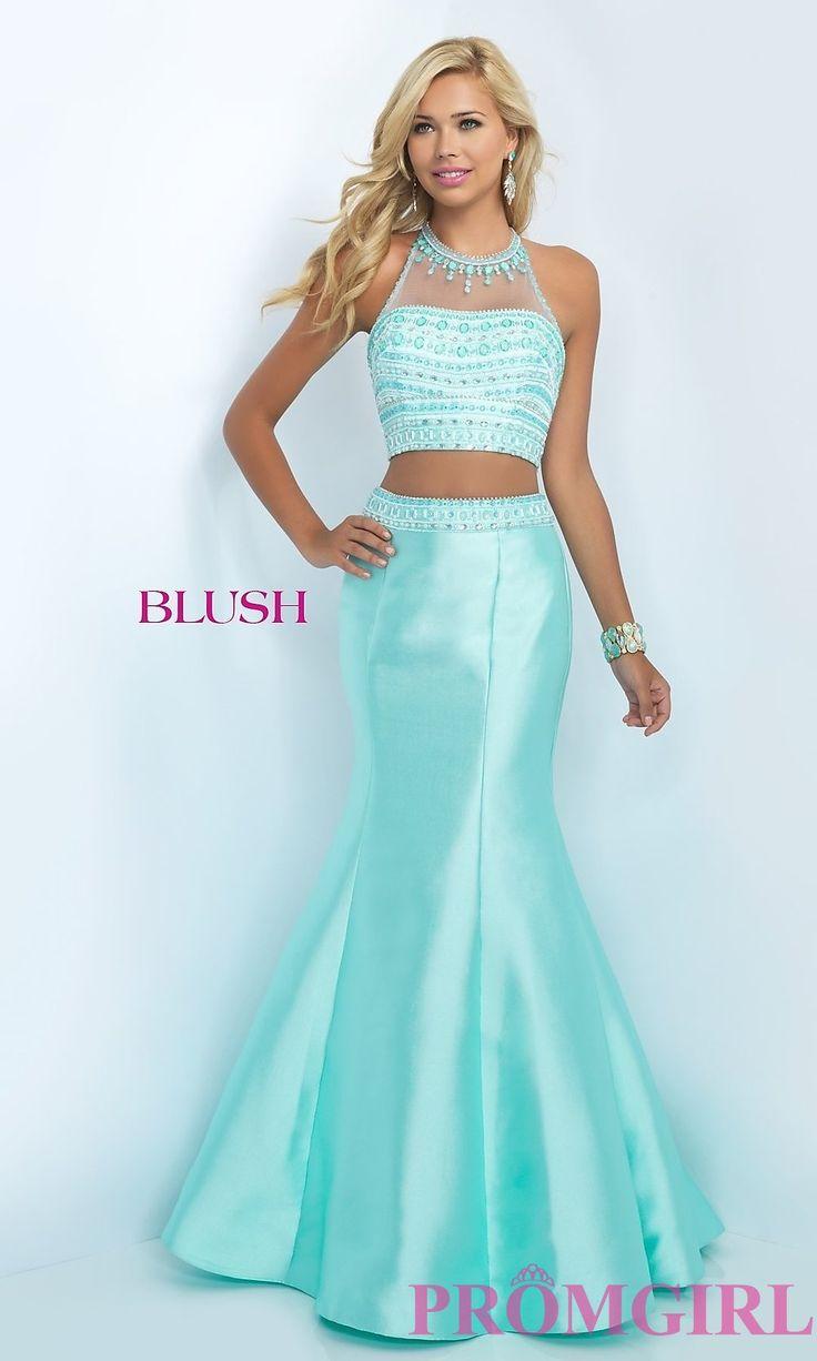 BL-11084 - Two Piece Taffeta Mermaid Blush Prom Dress | Prom ...