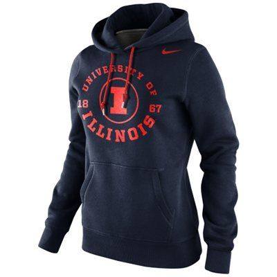 Illinois Fighting Illini Ladies Nike Pullover Hoodie #illini #illinois #fightingillini