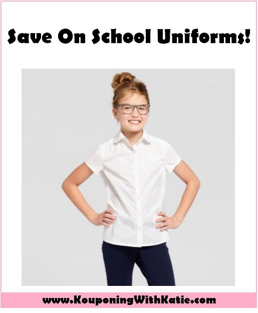 Save 20%+ Off School Uniforms At Target, Starting At $5!!! - Kouponing With Katie Here's a GREAT clothing deal for you! Through Saturday 1/13 you can get an additional 20% off of School Uniforms from Target. That is ON TOP of any sales or clearance ... http://www.kouponingwithkatie.com/2018/01/10/hot-save-40-off-mossimo-clothing-target-starting-3-2-2-2-2/