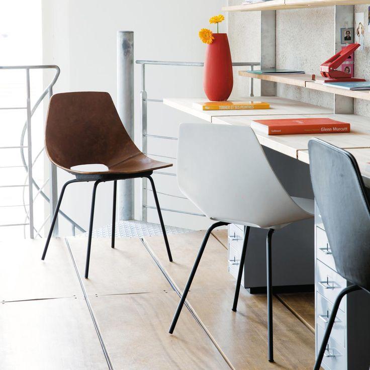 White Tonneau Chair Amsterdam. Maisons Du Monde