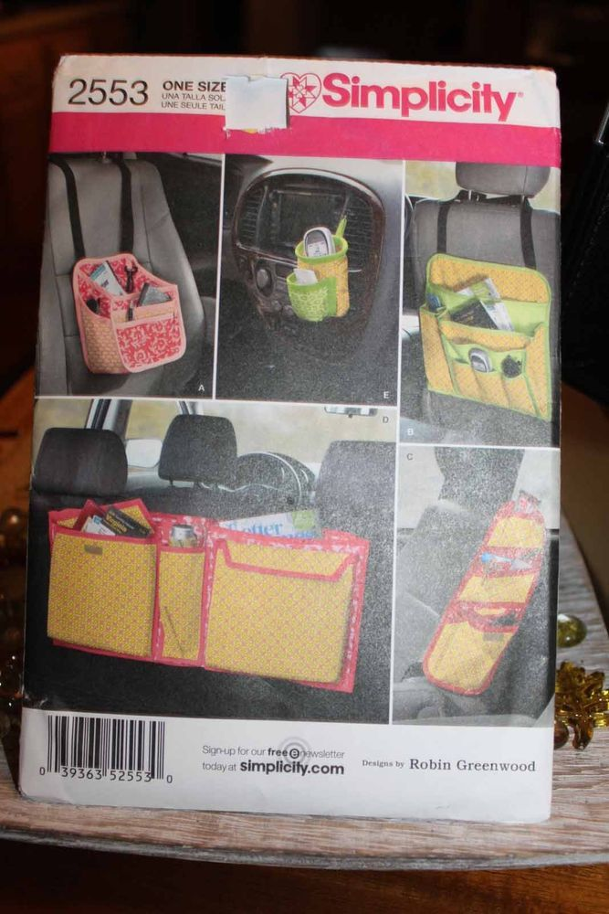 Simplicity Sewing Pattern UNCUT 2553 baby car seat organizer caddy catch all #Simplicity