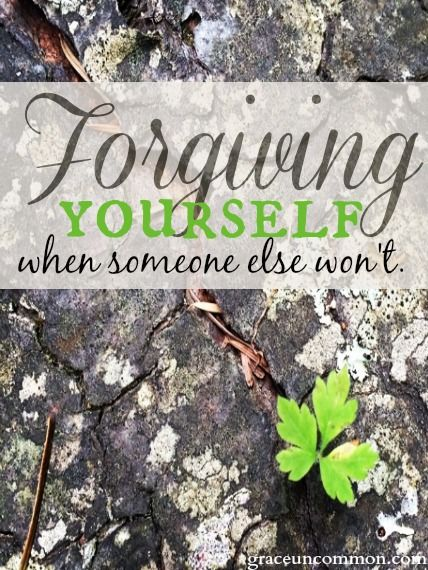 Learning to set yourself free from someone who can't or won't forgive.