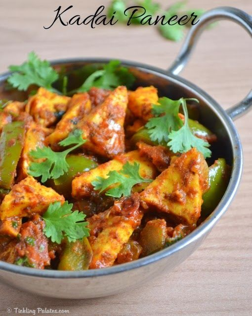 Paneer (Cottage Cheese Cubes) and Bell Pepper Curry