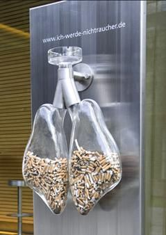 27 impactantes campanhas anti tabagismo  The font in this ad is so simple and clear trying to bring out the message of what cigarettes can do to your body.