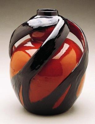 Art Glass Vase by Max Laeuger ; Tonwerke on display at Minneapolis Institute of Arts