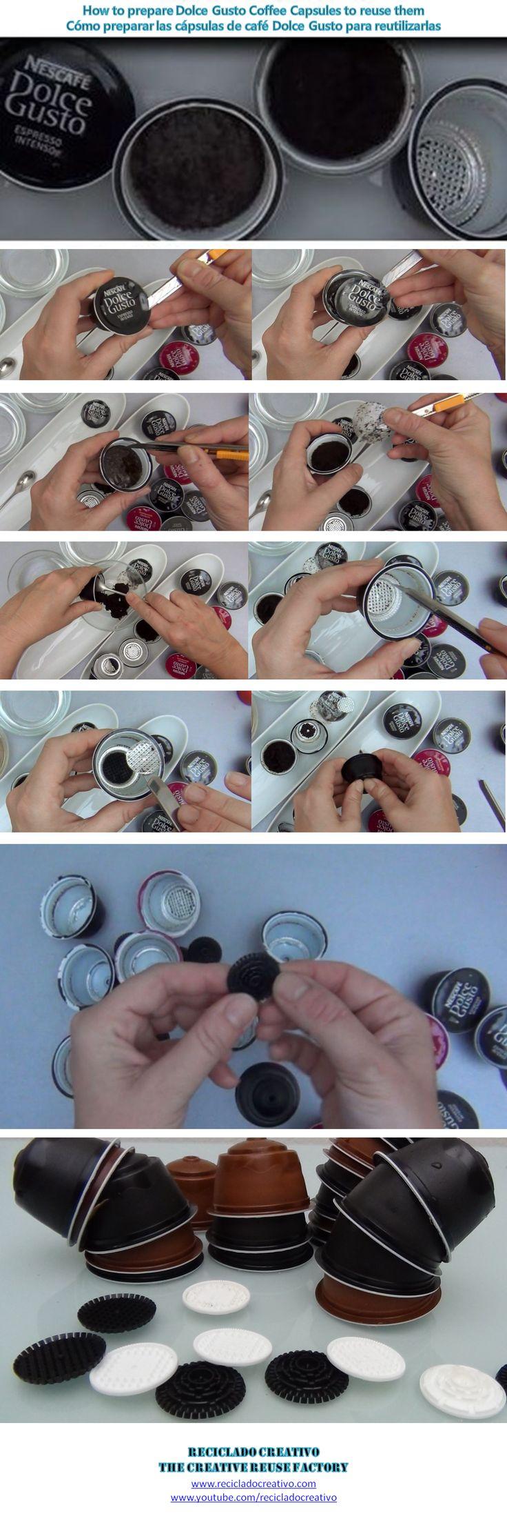 How to clean and prepare dolce gusto coffee capsules to recycle them - Cómo limpiar y preparar para reciclar las cápsulas de café Dolce Gusto