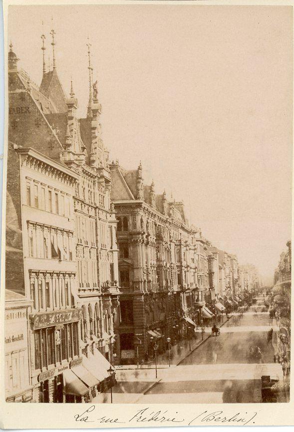Berlin, Leipziger Straße, um 1885.