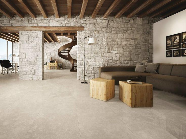 Pavimento in gres porcellanato effetto pietra SIGHT BEIGE Collezione Sight by CERAMICHE KEOPE
