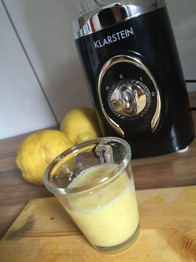 Rezept - Fit in den Tag mit einem Ingwer Zitrone - Shot