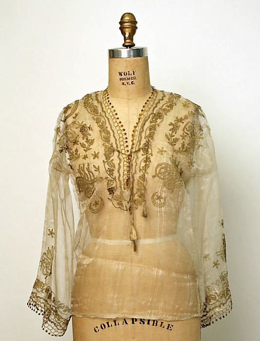 turkish silk embroidered blouse • late 19th/early 20th Century