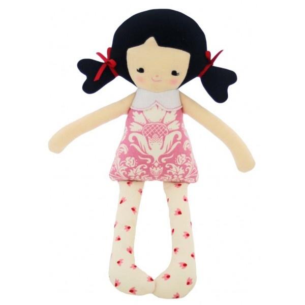 Alimrose Designs Martha Doll Rattle - Pink Toile