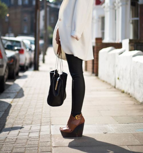 Shoes: Shoes, Fashion, White Blazer, Street Style, Lisbon Buckle, Buckle Wood