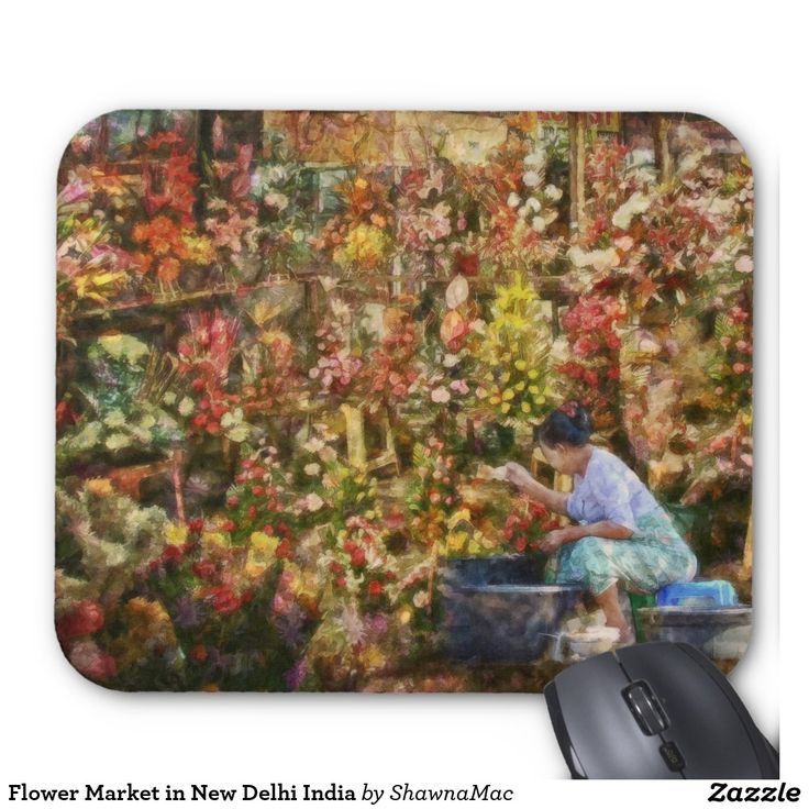 Flower Market in New Delhi India Mouse Pad