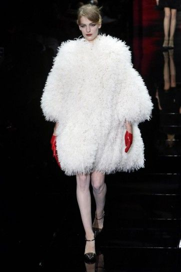Pelliccia bianca Amrani