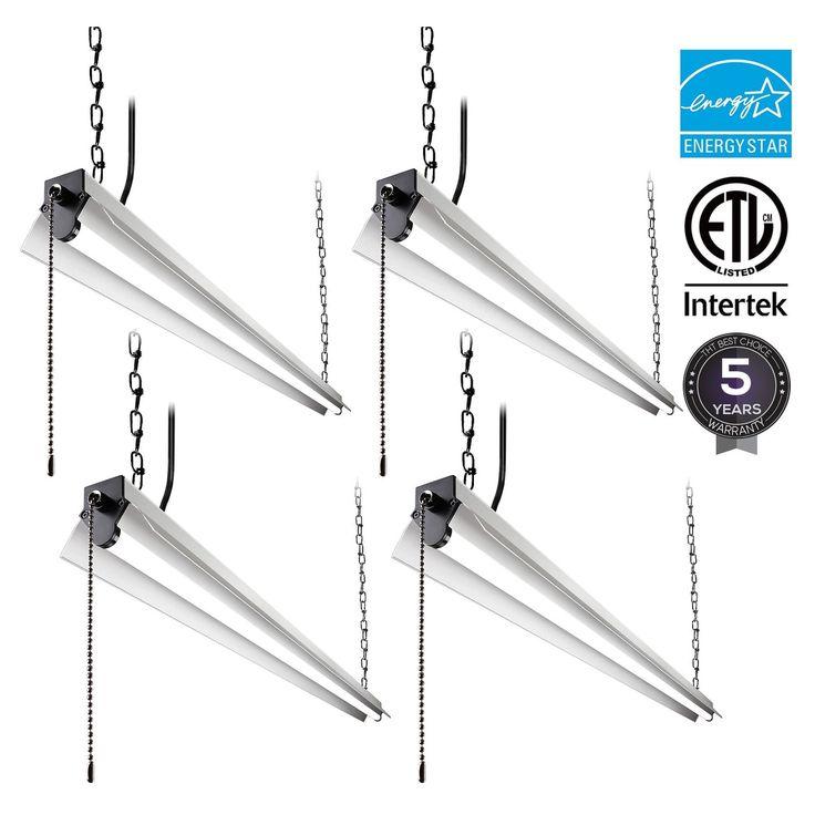 1/4 Pack 4ft LED Utility Shop Light, 40W, 3200lm, 4000K Cool White/5000K Daylight, Energy Star (4 pack-4000k)