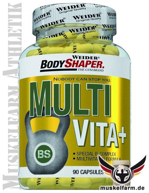 Weider Multi Vita Vitamin B Komplex sind Multivitaminkapseln zum Schlucken und liefern wichtige Vitamine und Nährstoffe zur täglichen Versorgung.