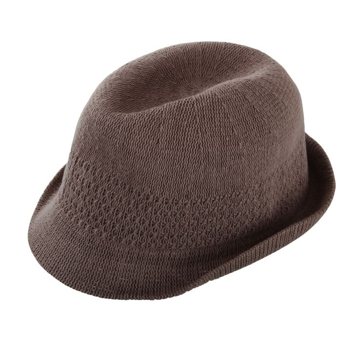 SEEBERGER Hut Strick-Trilby, Umfang 54 cm, taupe