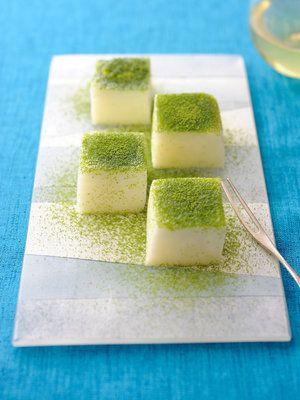 Japanese mochi sweets with matcha powder