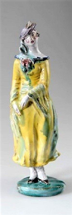 Vally Wieselthier (österreichisch, 1895 - 1945) Titel:     Dame , um 1923  Medium:     majolica Größe:     25,5 cm (10 in)