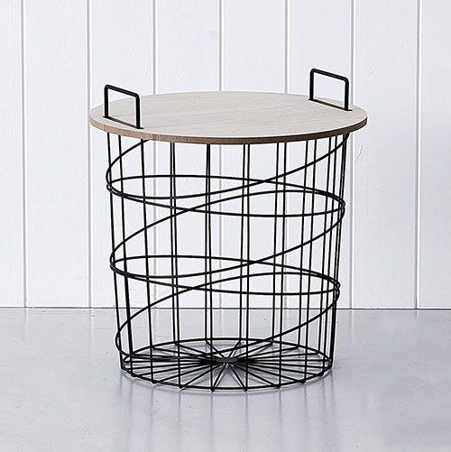 Sale - Lulu Wire Table Black Side Table