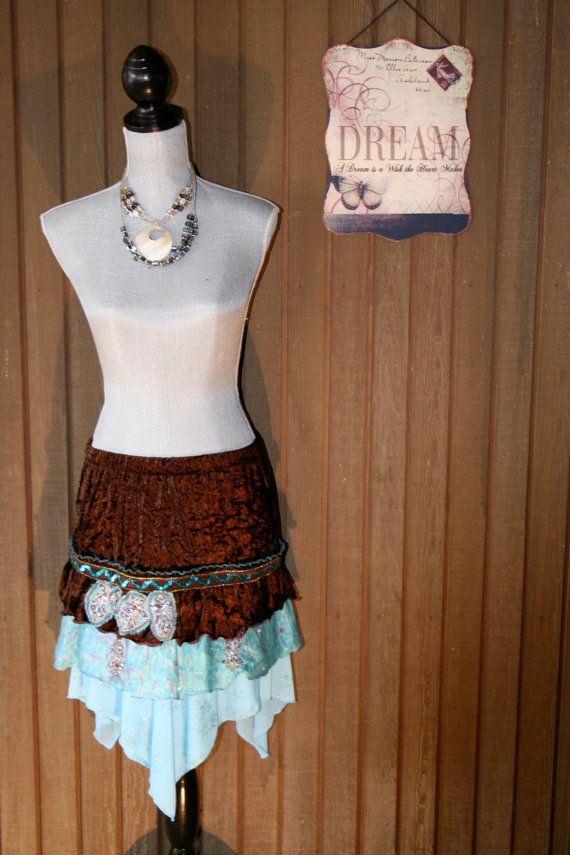 Upcycled Fairy Girl Woodland Pixie Skirt by BelladonnaBoema - Just about the cutest skirt ever!!!