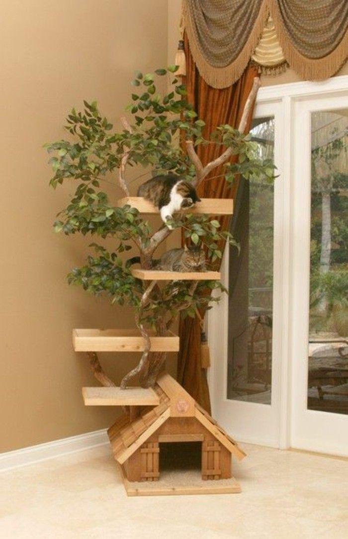 Bauen Sie sich selbst einen Kratzbaum – 67 Ideen und Bauanleitungen! – Archzine.net   – Kratzbaum