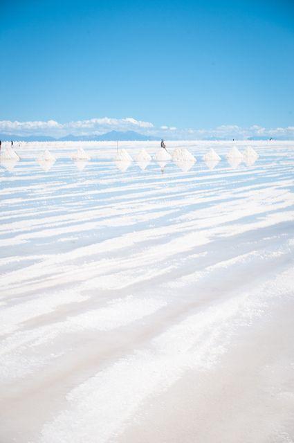 Uyuni Salt Flats: Uyuni, Bolivia - it is like you're on another planet.