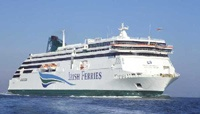 Irish Ferries ship 'Ulysses' from Holyhead, UK to Dublin.