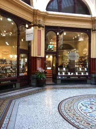 Haigh's Chocolates, Melbourne - A tram ride here with the kids to have a special treat is a great outing walking through the lane ways and arcades.