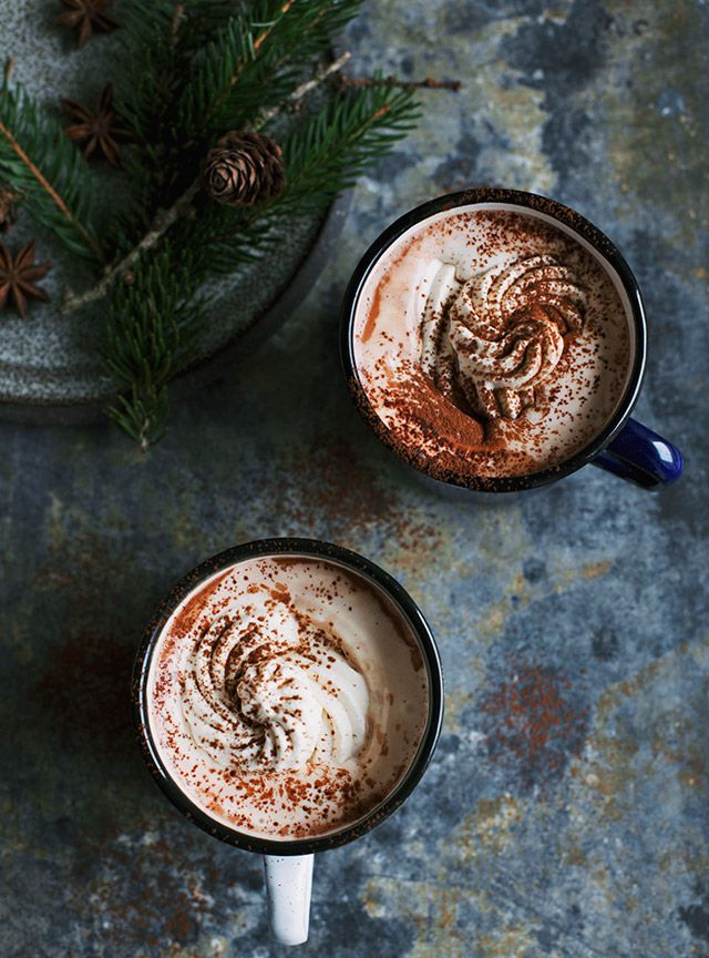... hot chocolate with cinnamon ...