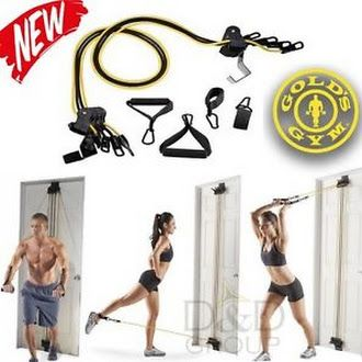 Details about  Gold's Gym Total Body Home Training Workout Equipment Exercise Fitness Bands NEW