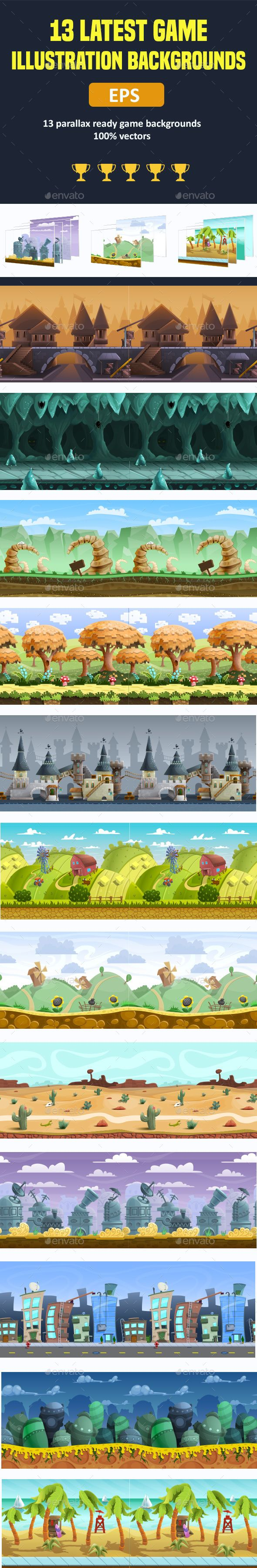 Parallax Ready Game Backgrounds - Backgrounds Game Assets