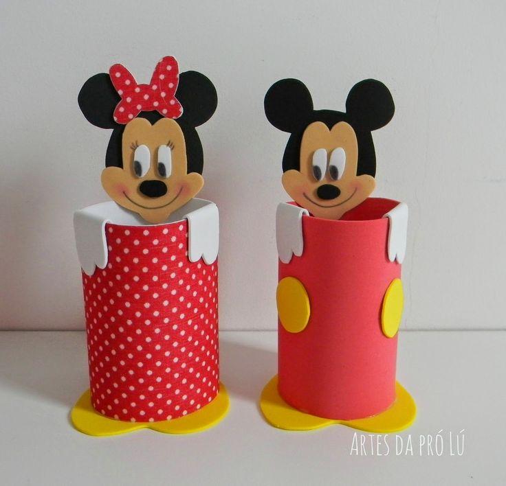 Artes da Pró Lú: Lembrancinhas em E.V.A tema: Mickey Mouse