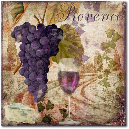 Trademark Fine Art Wine Country Iii Canvas Art by Color Bakery, Assorted