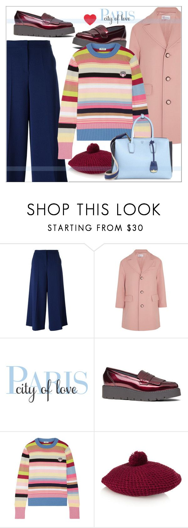 """""""Kenzo Cotton-Bend Sweater"""" by biange ❤ liked on Polyvore featuring Boutique Moschino, RED Valentino, WALL, Kenzo, Gucci and MCM"""
