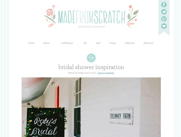 Bridal Shower Inspiration shoot featured on New Zealand blog, Made From Scratch