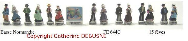 Collection Basse- Normandie 20 € ( prix usine ) la région de figurines de porcelaine, peintes à la main