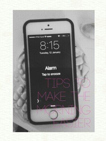 Tips to make the morning easier.